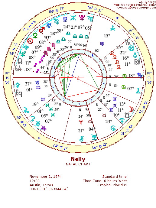 Nelly natal wheel chart