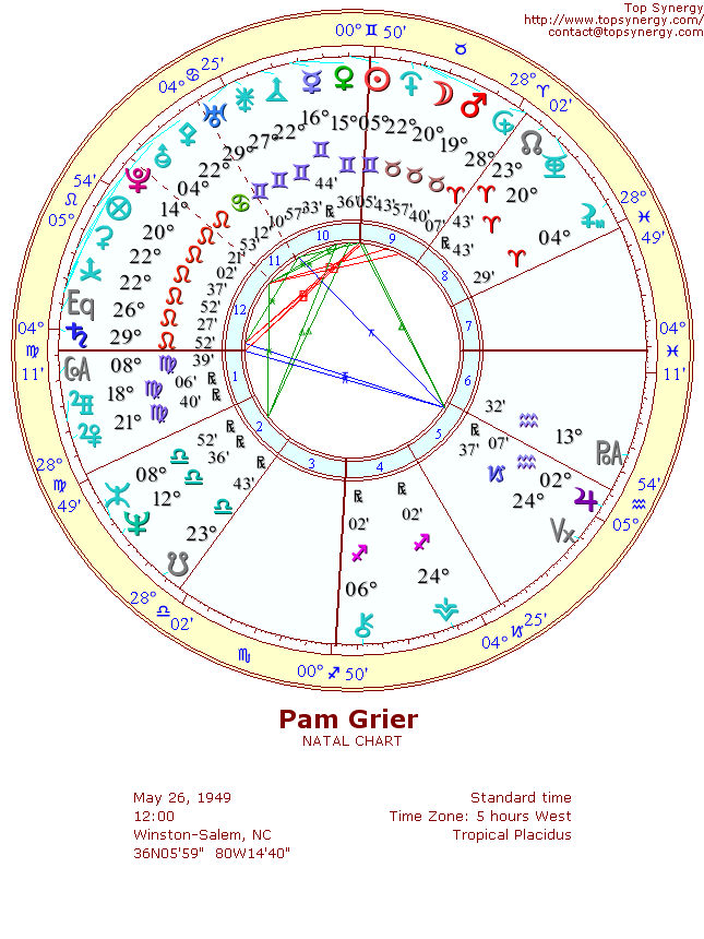 Pam Grier Birthday And Astrological Chart